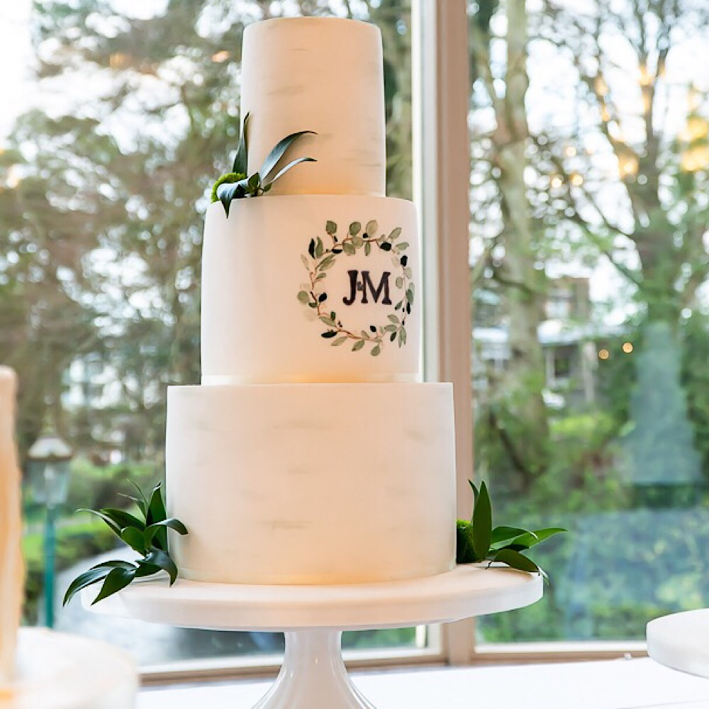 Wedding Cake with J&M Initials