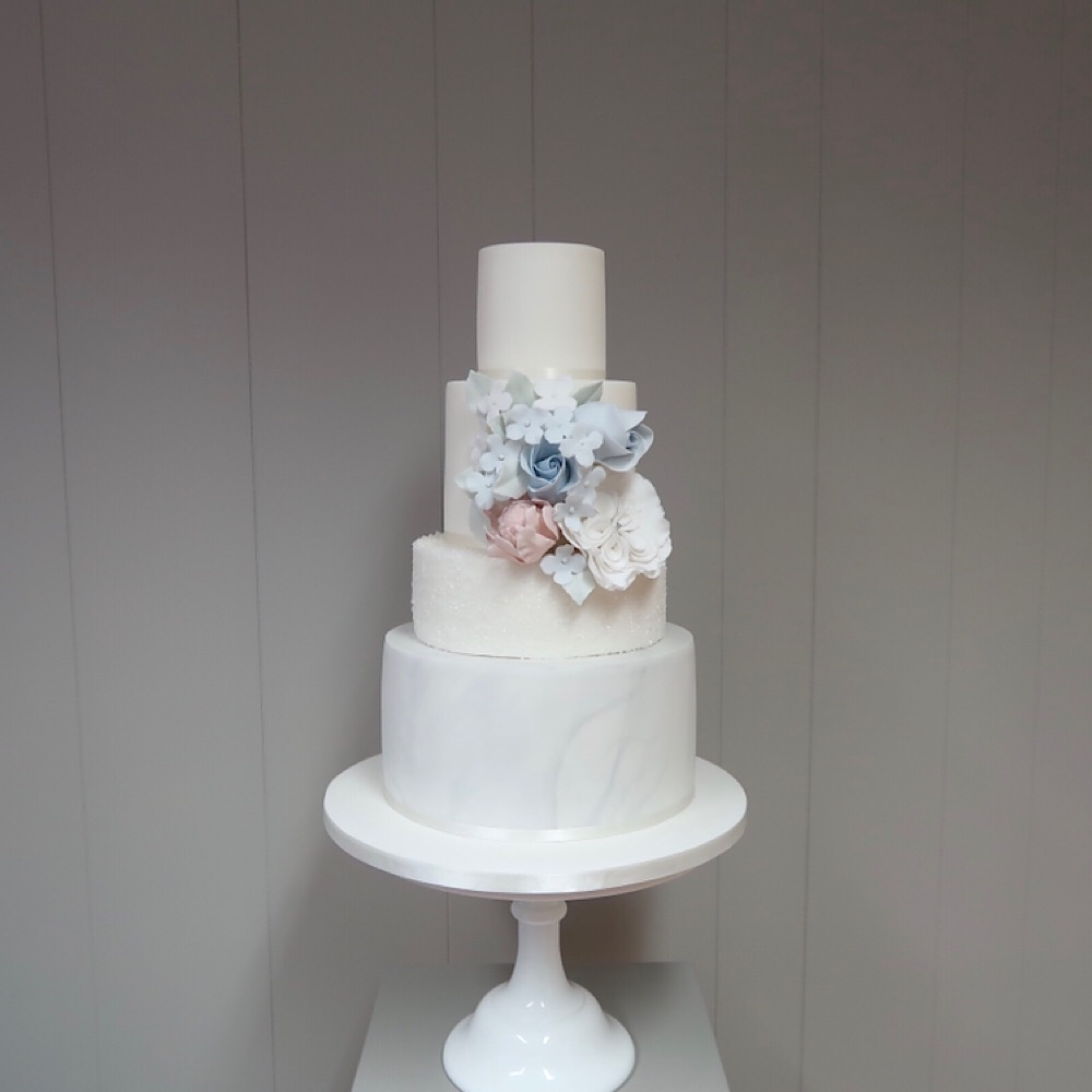 4 tier with sugar flowers
