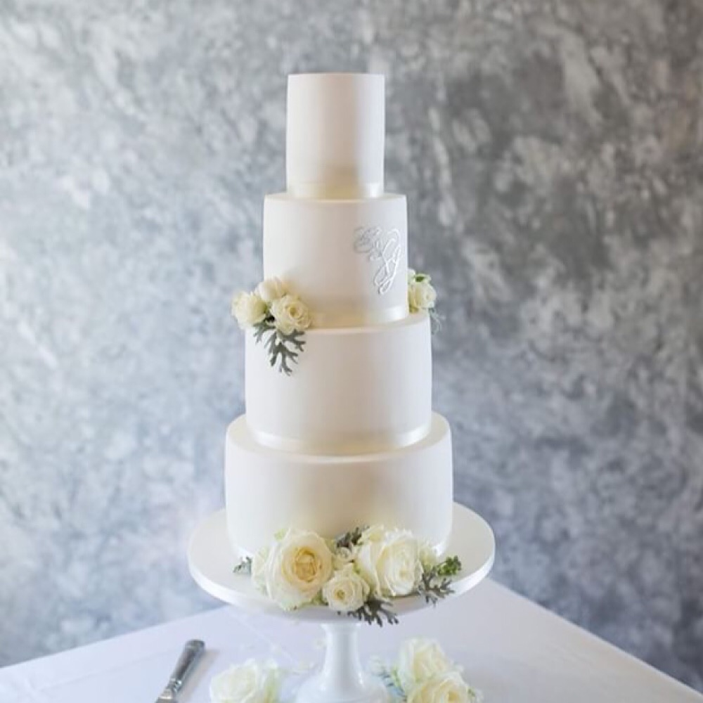 Simple iced 4 tier cake