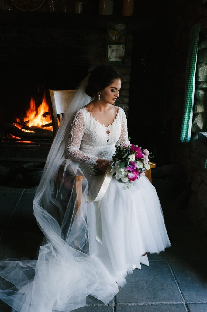 bride by the fire