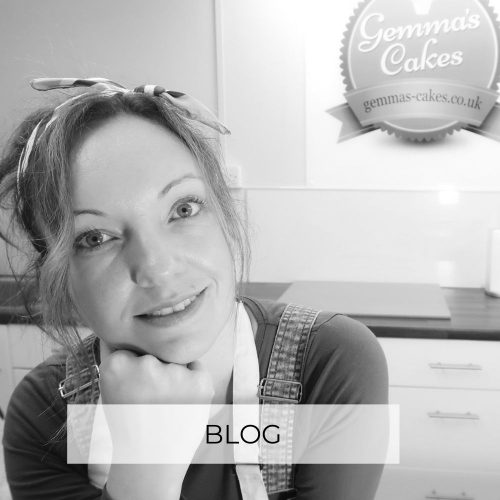 Picture of wedding cake designer Gemma with title Blog